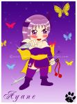 Chibi Ayane - purple killer by Manwe-Varda
