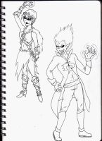 Dan and Sam - Redesigned by Shaed-Knightwing