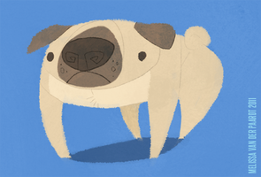 Pug by sketchinthoughts
