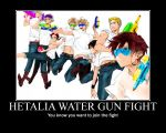 APH Poster: Water gun fight by LOVlNO