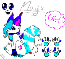[New Fursona Reference] - ~Magix~ by MagixSP