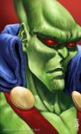 Martian Manhunter Headshot by earache-J