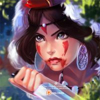 Princess Mononoke by OlchaS