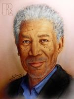 Morgan Freeman - 2 by Raphael-25