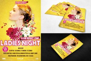 FREE PSD FLYER - Ladies Night by dianaghiba