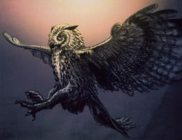 badassly fabulous owl. by Writto