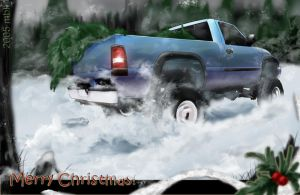 Christmas Truck by supercrazzy