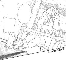 We have a chat. Naruto Lineart by Amaterasu-kun
