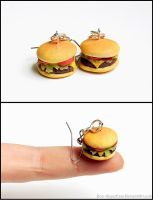Cheeseburger Earrings by Bon-AppetEats