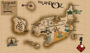 Land of Oz - Map by into-blue
