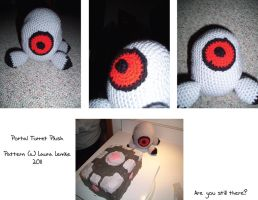 Pea Turret Plush by curseofpogo