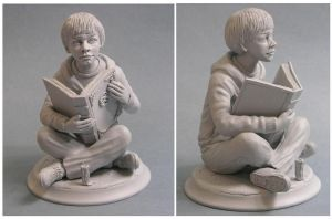 Bastian the neverending story sculpture by yotaro76