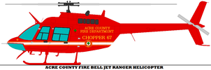 Acre County Fire Bell Jet Ranger Helicopter by mcspyder1