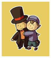 Layton and the Diabolical Cute by EmptyCrate