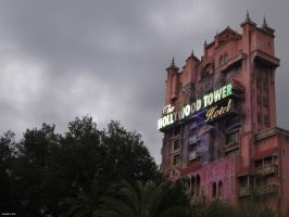 Walt Disney World Tower of Terror at Dusk by Majoh