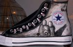 Three Days Grace Converse by TAZmaniandevil13
