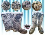 Poppin Fresh Love Storm Boots by marywinkler