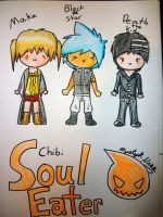 Soul Eater Chibis by MystykNess