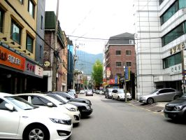 Seoul Street Morning View by toyonda