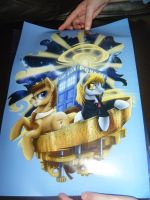 MCM 2014 - Doctor Whooves And Derpy Print by InsaneSpyro