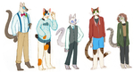 [OPEN] Cats in clothes by TankerFishyGalAdopts