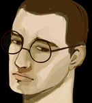 Man with round glasses by aur0