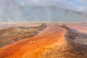 Grand Prismatic Pool by papatheo