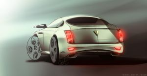 Bentley Sketch by Sedatgraphic2011