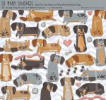 /// SO MANY SAUSAGES - Dachshund Clip Art /// by guava