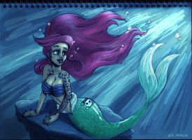 Not so little mermaid by nixuboy