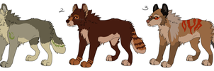 3 Wolves Adopts by MikacesAdopts