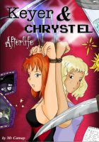 Keyer and CHRYSTEL Afterlife Comic cover by DamselComics