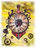 Mad Hatter's Clock by atomic-cocktail