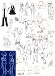 Undertale Doodles Part 2 Nov. 2015- May 2016 by DarkPheonixtma