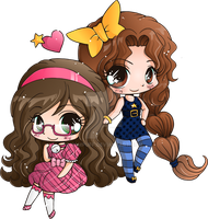 Bell and Star Mini Chibis - Commission by YamPuff