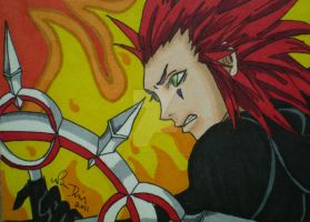 Axel ACEO Commission by LadyNin-Chan