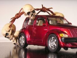 Skull with PT Cruiser by wickedlady