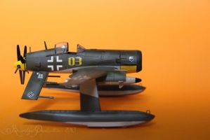 Messerschmitt Me-F4 Kampfadler Side View by Brandzai