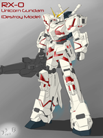 RX-0 Unicorn Gundam (Destroy Mode) by Lazarus-Firenze