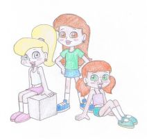Girltastic Trio - Serena, K.C. and Charlie by TheAwesomeWorld