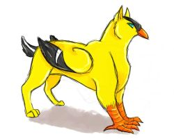 Yellow Finch by Leopard-Gryphon