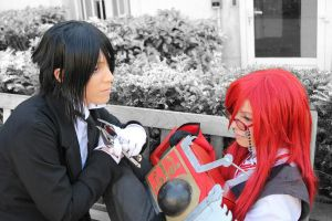 """Grell and Sebby """"What would you do?"""" by Hirako-f-w"""