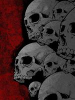 Red Grey Skulls iPhone by Sockdpoof