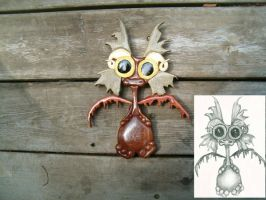 Weeble Baby Dragon by FrogPond
