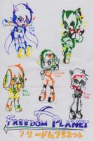 Freedom Planet Cast by AnaNini