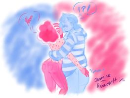 Pink n Blue by ArtChick94