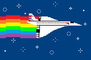 Nyan Concorde by concaholic