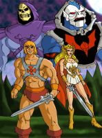 Classic He-man and She-ra by JazylH