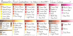 Prismacolor Pencil Combinations II - Warm Colors by Valkeus