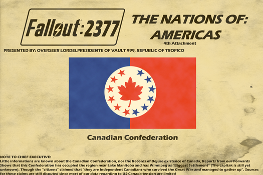Flags of Fallout 2377 Americas Nations pt.4 by lordelpresidente